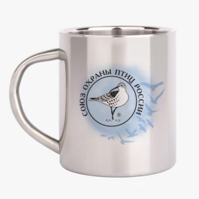 Кружка металлическая Союз охраны птиц России (логотип)