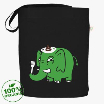 Сумка Зелёный слоник