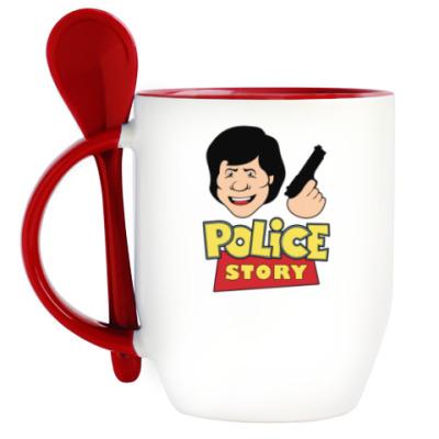 Кружка с ложкой Police story