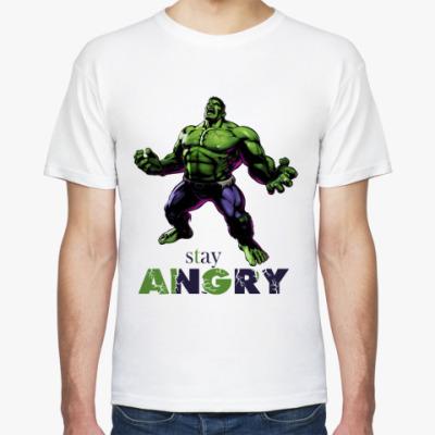 Футболка HULK stay angry MARVEL