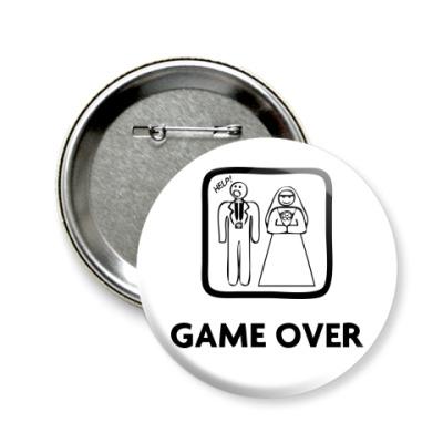 Значок 58мм Game Over. HELP!