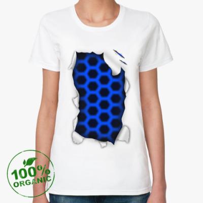 Женская футболка из органик-хлопка 'Лазер'