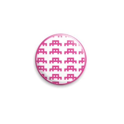 Значок 25мм пиксельные паучки