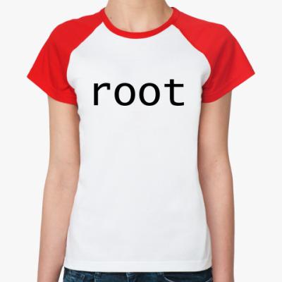 Женская футболка реглан root