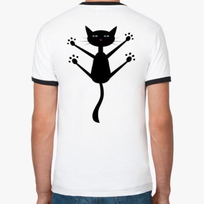 Футболка Ringer-T   I love cats