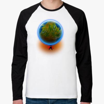 Футболка реглан с длинным рукавом Планета Земля