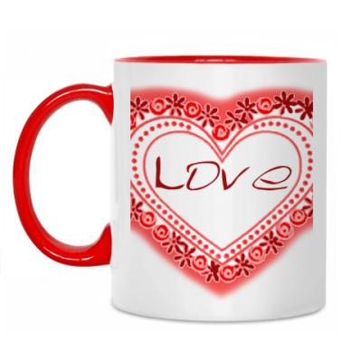 Кружка Любовь в сердце