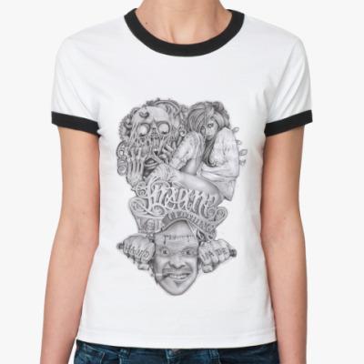 Женская футболка Ringer-T Insane Clothing