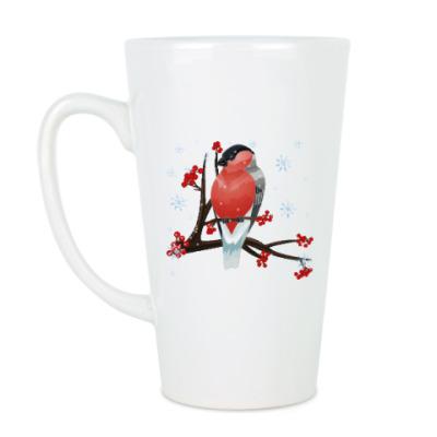 Чашка Латте Снегирь