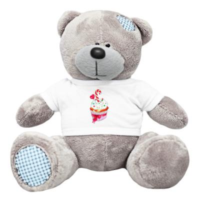 Плюшевый мишка Тедди любимый капкейк