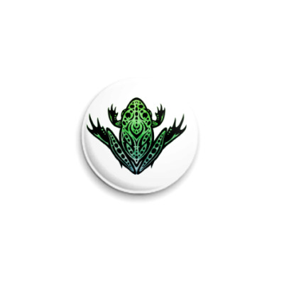 Значок 25мм Green Frog  25 мм