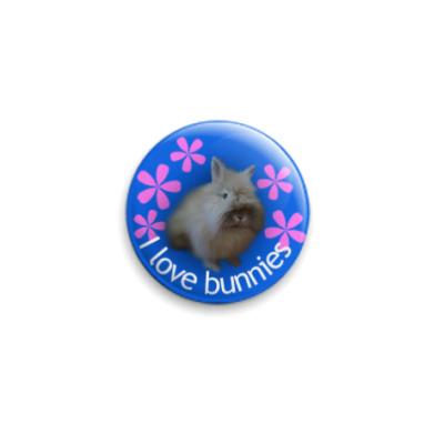 Значок 25мм Тоша (I love bunnies)