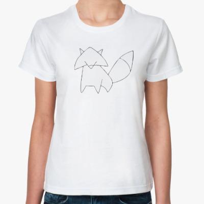 Классическая футболка Лисенок контур