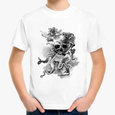 Детская футболка Череп-кальмар