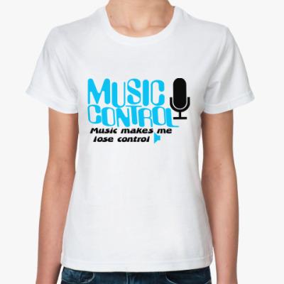 Классическая футболка Music control