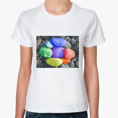 Классическая футболка Каменная радуга