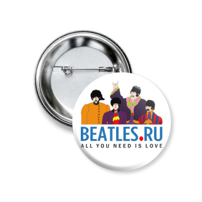 Значок 37мм  Beatles.ru (мал)