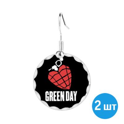 Серьги Green Day